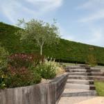 Aménagement traverses bois + création d'escalier